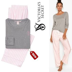 VICTORIA'S SECRET The Lounge PJ set iconic stripe